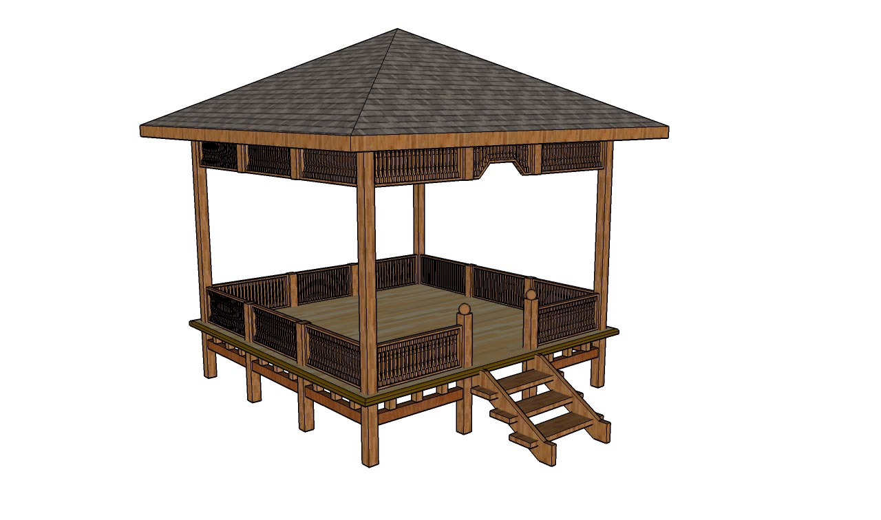 simple square gazebo plans pergola design ideas