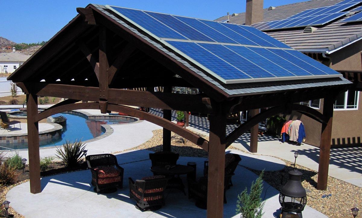 Solar Panel Pergola Roof