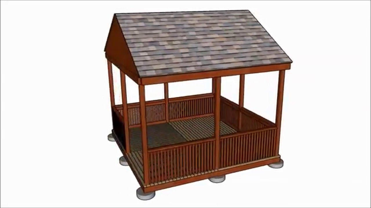 Square gazebo plans 10 10 pergola design ideas for 10x10 house design