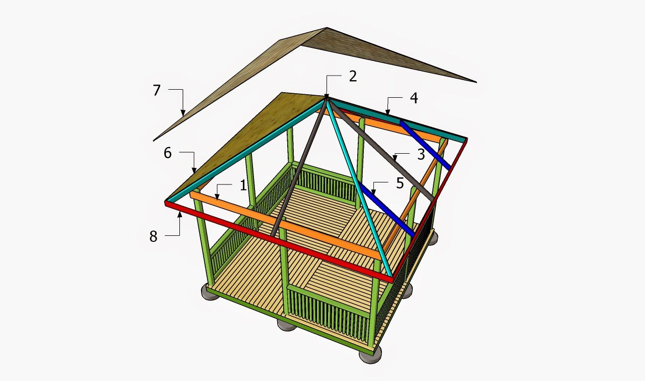 Square Gazebo Plan Free