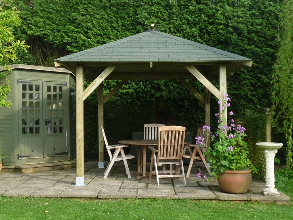 Square Wooden Gazebo Kits