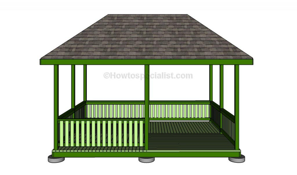 Square wooden gazebo plans pergola design ideas - Build rectangular gazebo guide models ...