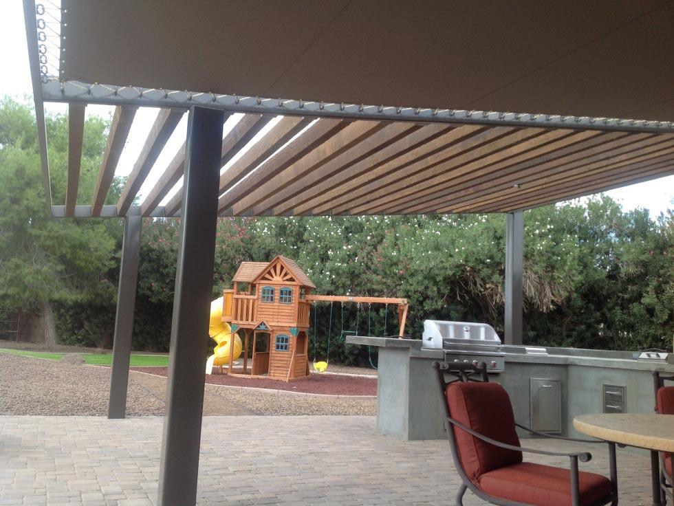 Sunbrella Fabric Pergola Cover