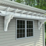 Vinyl Attached Pergola Kits