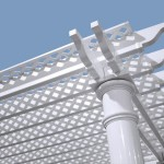 Vinyl Pergola Kits with Shade